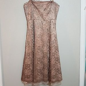BCBGMAXAZRIA Strapless Lace Dress